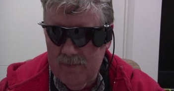 Blind man can see with bionic eyes.