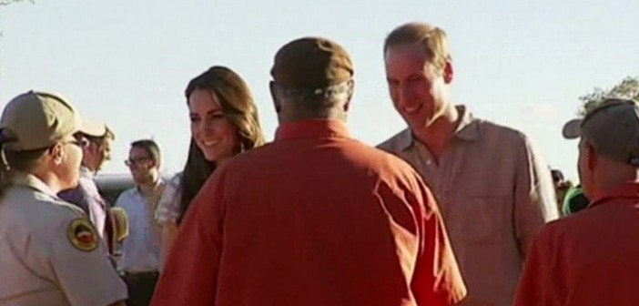 Royal couple enjoy sheep-shearing demo Down Under