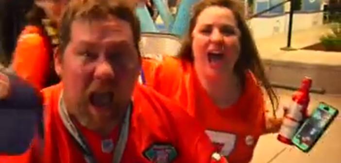 Bronco fans celebrate Super Bowl win in Denver streets