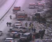 Connecticut bus crash in snow hurts at least 30