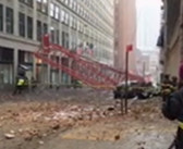 NYC crane was being secured due to wind