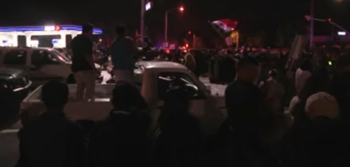 Violence, arrests follow California Trump rally