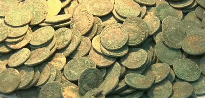 Spain: Park workers hit on huge Roman coin trove by accident