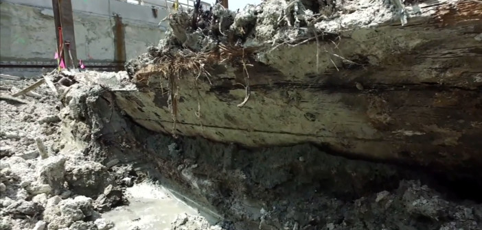 Shipwreck from 1800s uncovered in Boston's Seaport District