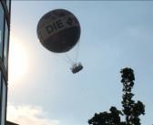 Gusty winds in Berlin terrify people in passenger balloon