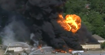 Pesticides may have been released in Texas fire