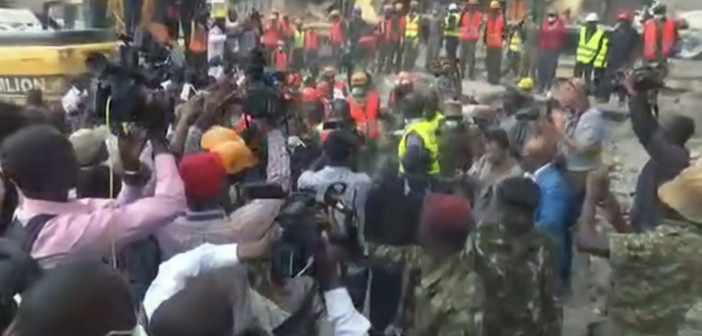 Kenya: Woman found alive after 6 days in collapsed building