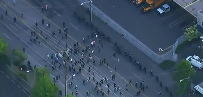Police arrest protesters in Seattle