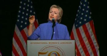 Clinton says gun violence is civil rights issue