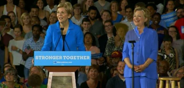 Clinton has praise for Warren