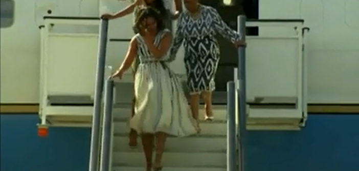 US first lady arrives in Spain to promote girls' learning