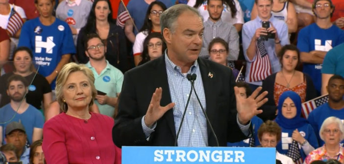 Dems Clinton, Kaine start bus tour in OH, PA