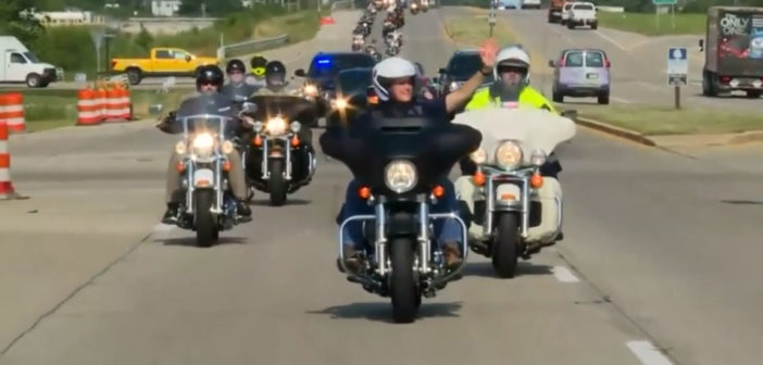 Pence rides motorcycle across Indiana