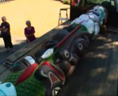 Tribe trucks totem pole 4,800 miles in fossil fuels protest