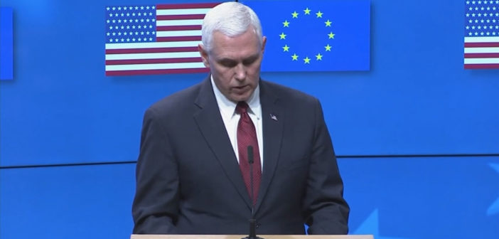 VP Pence talks of deepening ties to European Union