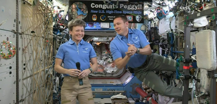Astronaut breaks record for most time in space by American