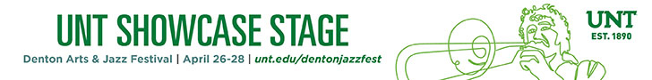 UNT Showcase stage at the Denton Arts & Jazz Festival
