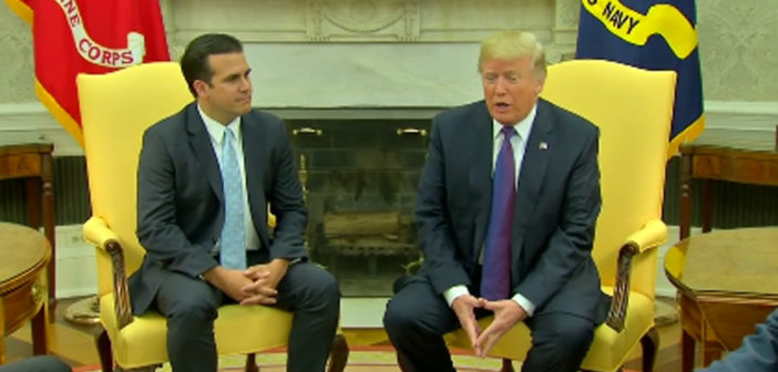 Trump welcomes Puerto Rico governor to White House